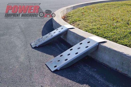 Gridiron ramp, zero turn ramp, trailer storage