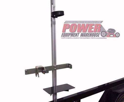 back pack holder, trailer storage, trailer back pack holder