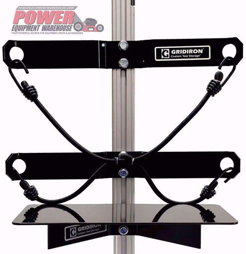 Gridiron universal holder, trailer equipment holder, trailer storage