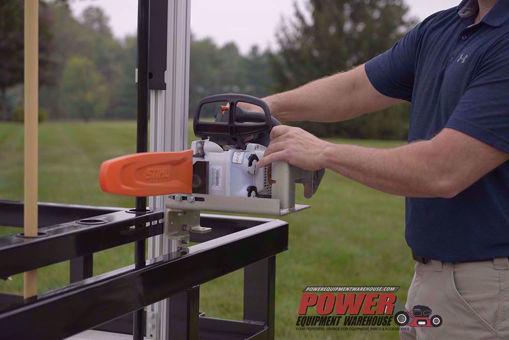 Gridiron chainsaw holder, trailer storage, Gridiron trailer chainsaw holder